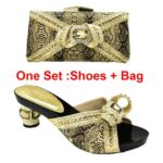 Gold Shoe and Bag