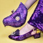 Purple Shoes nad Bag